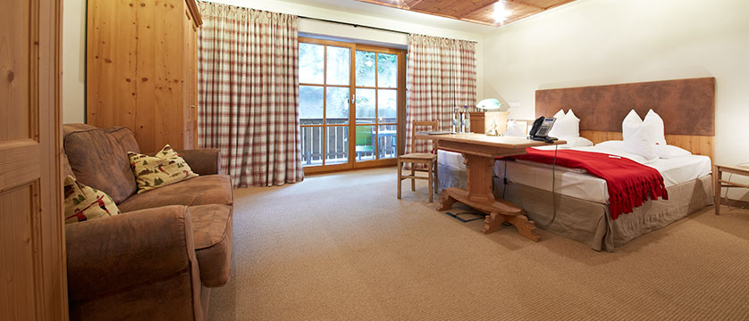 Hotel Alpine Palace, Hinterglemm, Austria - double bedroom with balcony.jpg